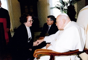 Kathy with Pope John Paul II