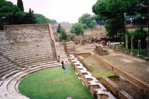 The amphitheater–where Ostians gathered for performances and speeches