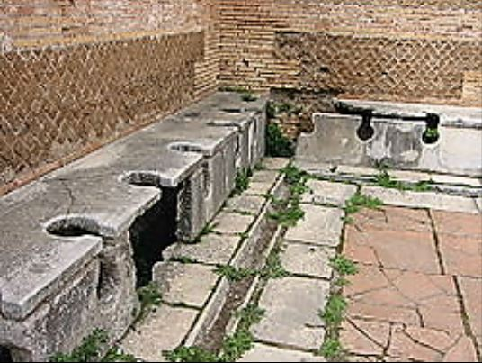 Toilets at Ostia Antica - large
