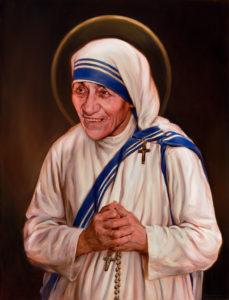 Mother Teresa - Official Canonization Portrait by Chas Fagan